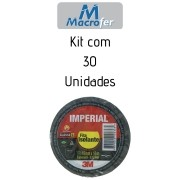 Fita Isolante 18mm x 20m Imperial 3M - Kit com 30 Unidades