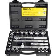 Jogo de Soquete 1/2 Pol Stanley 8 a 32mm 22 Peças