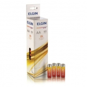 Pilha AA Zinco Elgin com 60 unidades