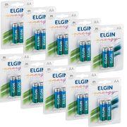 Pilha Alcalina Elgin AA - 10 Unidades
