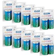 Pilha Alcalina Grande D Elgin -10 Unidades