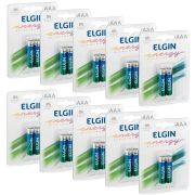 Pilha Alcalina Palito AAA Elgin - 10 Unidades