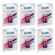 Pilha Recarregável AAA Palito Elgin - 6 Unidades