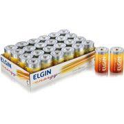 Pilha Zinco Média C Elgin com 24 unidades