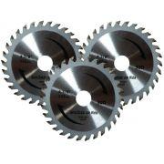 Serra Circular Widea 4.3/8 Pol 30 Dentes Conex - Kit com 3 Unidades