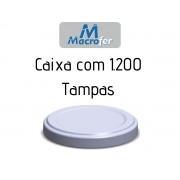 Tampa Metálica 74mm para Pote de Vidro Compota - Caixa com 1200 Unidades