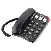 Telefone com Fio Memória Preto Elgin