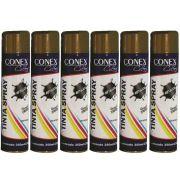 Tinta Spray Cobre Metálica 350ml Conex Colors - 6 Unidades