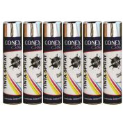 Tinta Spray Cromada Metálica 350ml Conex Colors - 6 Unidades