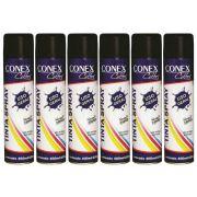 Tinta Spray Preto Fosco 400ml Conex Colors - 6 Unidades