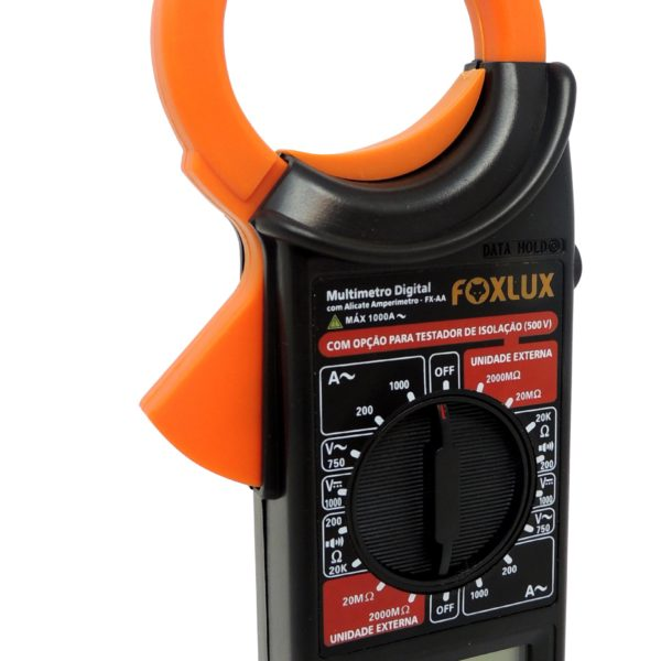 Alicate Amperímetro Multímetro Digital FOXLUX