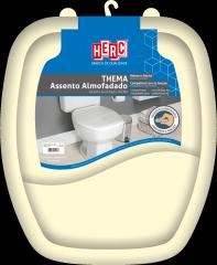 Assento Sanitário Almofadado Premium Thema Tampa Vaso Bege HERC
