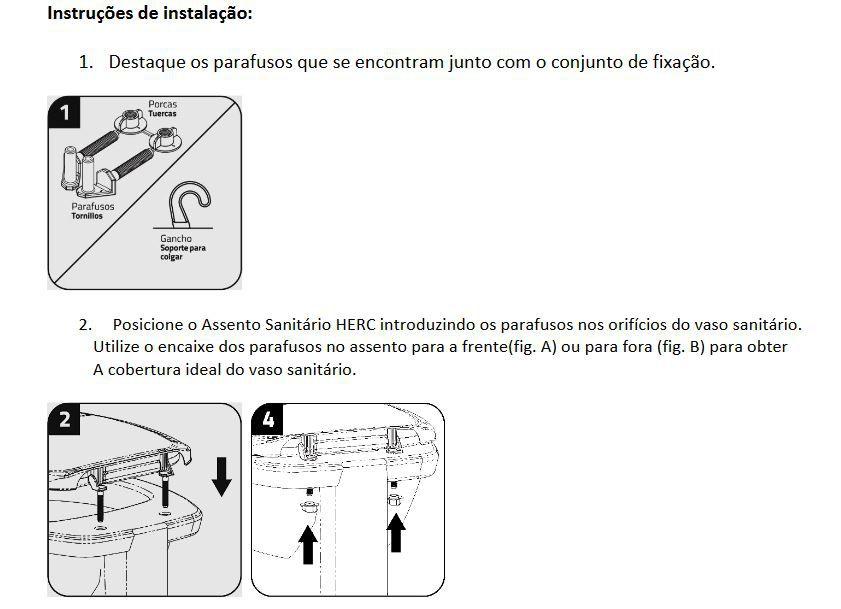 Tampa de Vaso Sanitário Preto Almofadado Premium Thema Herc