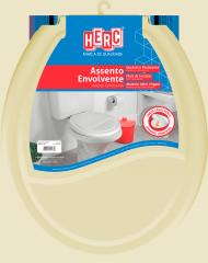 Assento Sanitário Envolvente Tampa Vaso Bege HERC