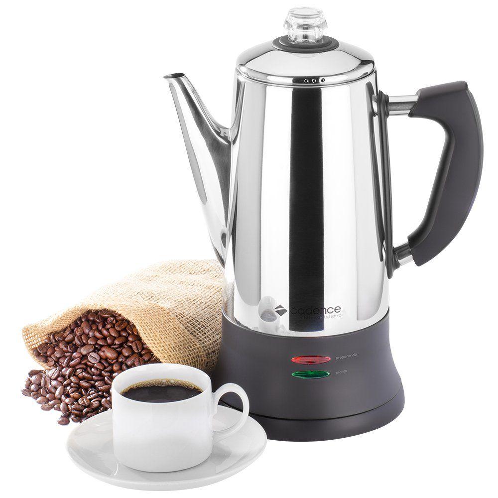 Cafeteira Elétrica Inox Italiana Cadence 1000W