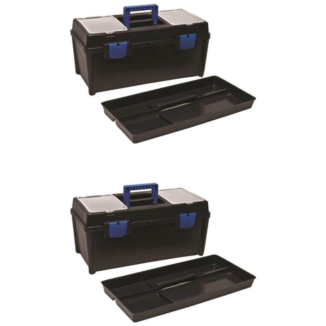 Caixa Maleta Plástica para Ferramentas Grande CONEX - Kit com 2 Unidades