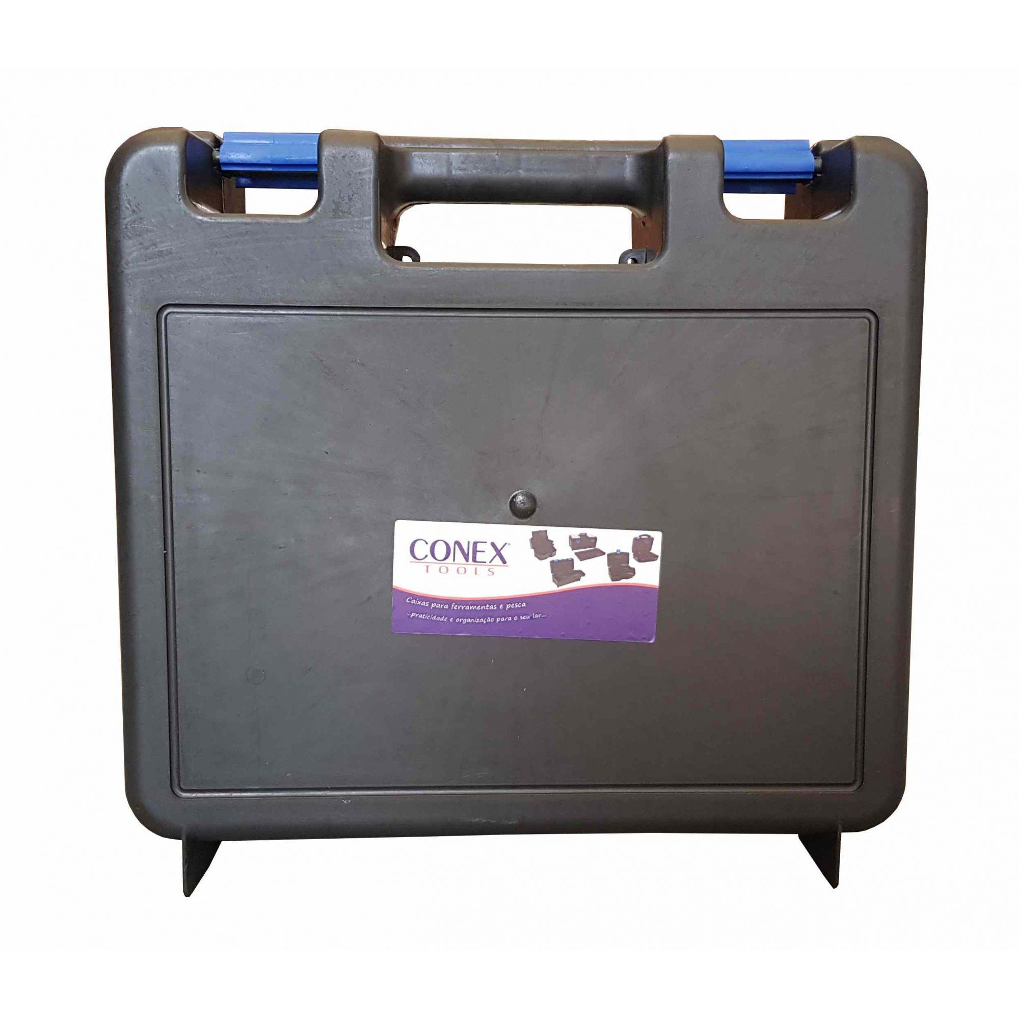 Caixa Maleta Plástica para Furadeira e Ferramentas Conex - 4 Unidades