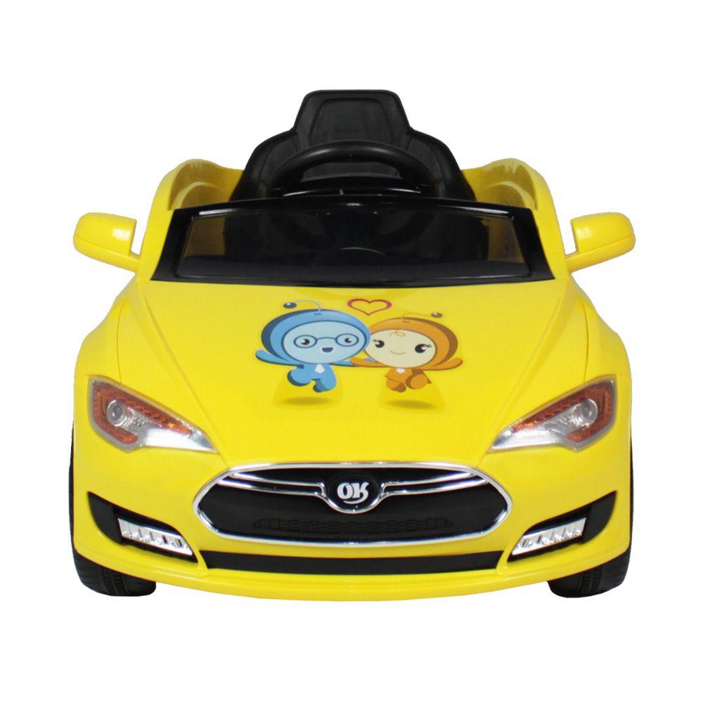 Carrinho Elétrico Infantil Sport Turbo Amarelo com Controle Remoto Belfix