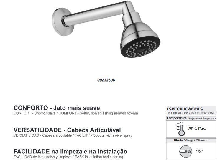 Chuveiro Ducha Banheiro Bonnaducha Cromado DOCOL