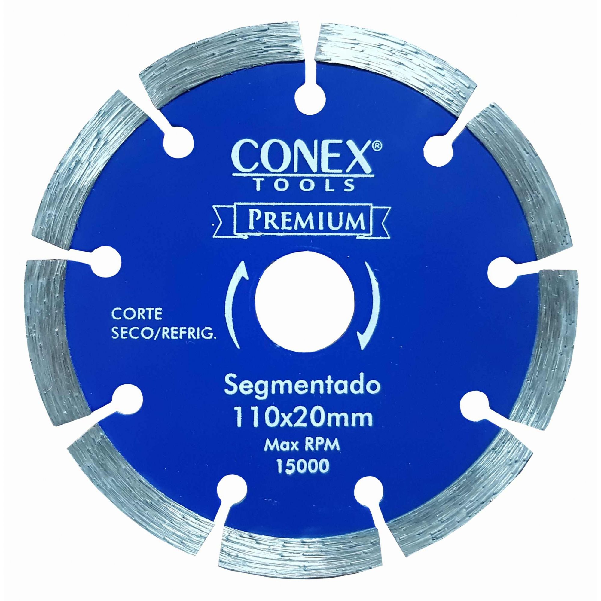 Disco Diamantado Segmentado 110mm Conex - 4 Unidades