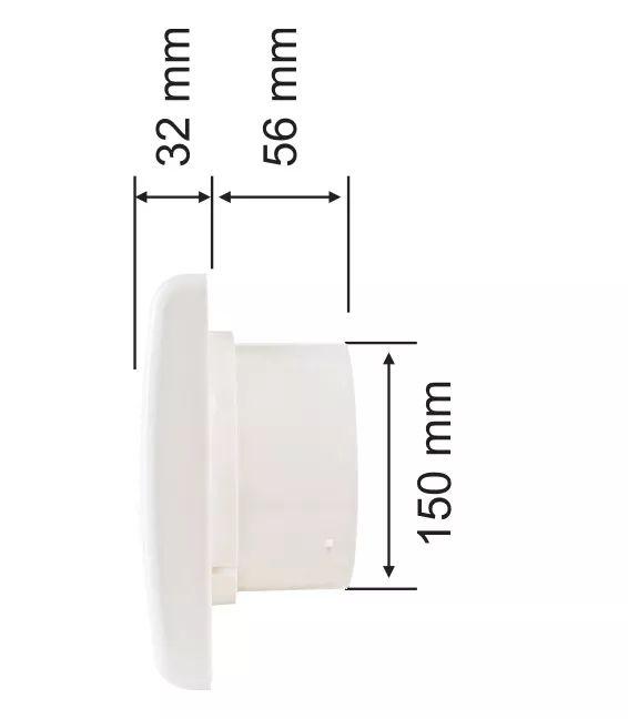 Exaustor para Banheiro EXB 150mm 22W  Ventisol