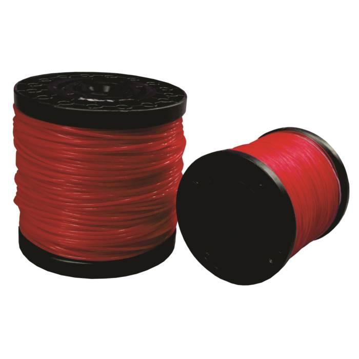 Fio de Nylon para Roçadeira Vermelho Quadrado 3,0mm Rolo 194m Mundi