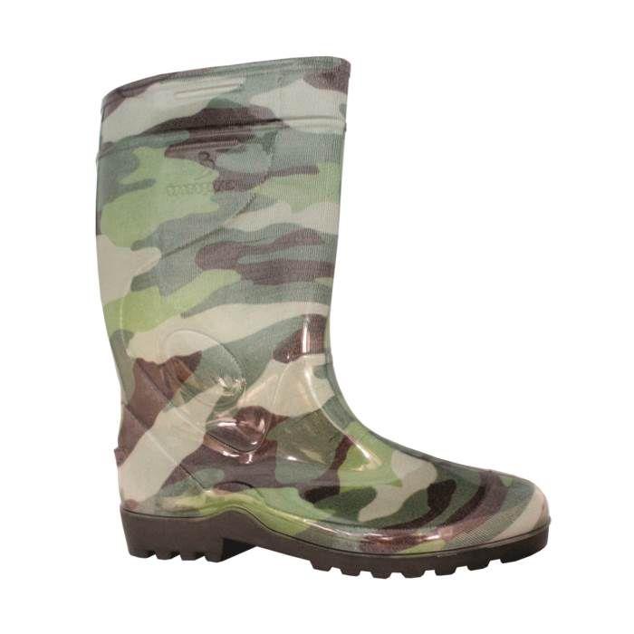 Galocha Bota Militar Camuflada Verde Borracha PVC Italbotas