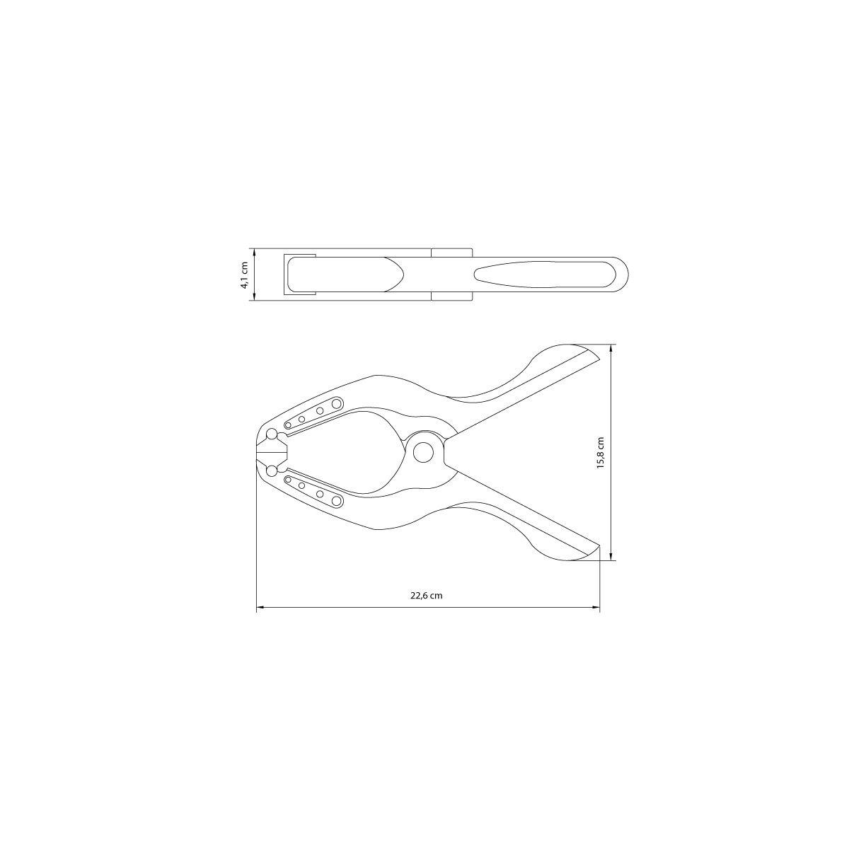 Grampo Prendedor Tramontina Nº 3 / 210mm - Kit com 2 Unidades