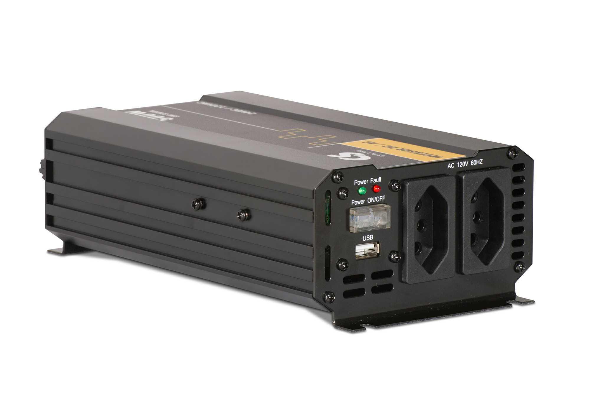 Inversor de Energia 12V para 220V 500W Senoidal Série EIM DC/AC