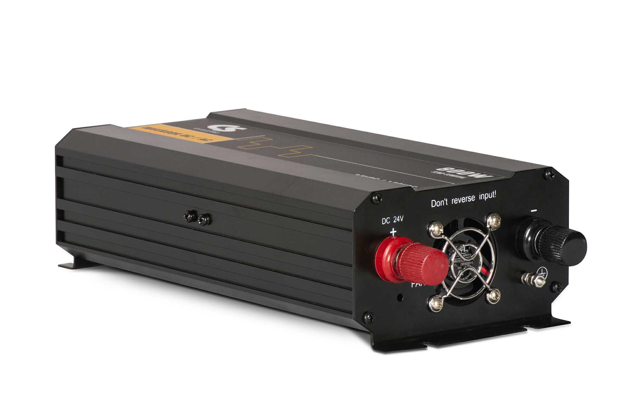 Inversor de Energia 12V para 220V 800W Senoidal Série EIM DC/AC