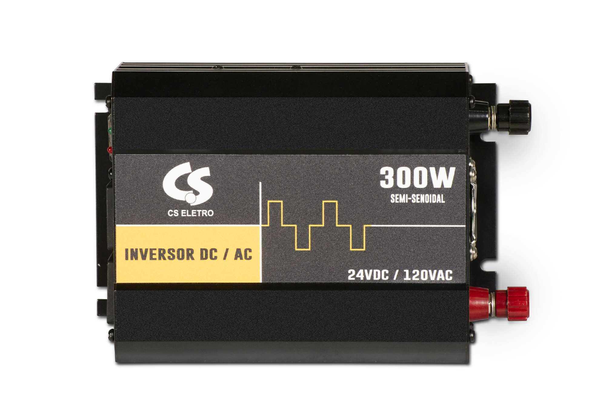 Inversor de Energia 24V para 120V 300W Senoidal Série EIM DC/AC