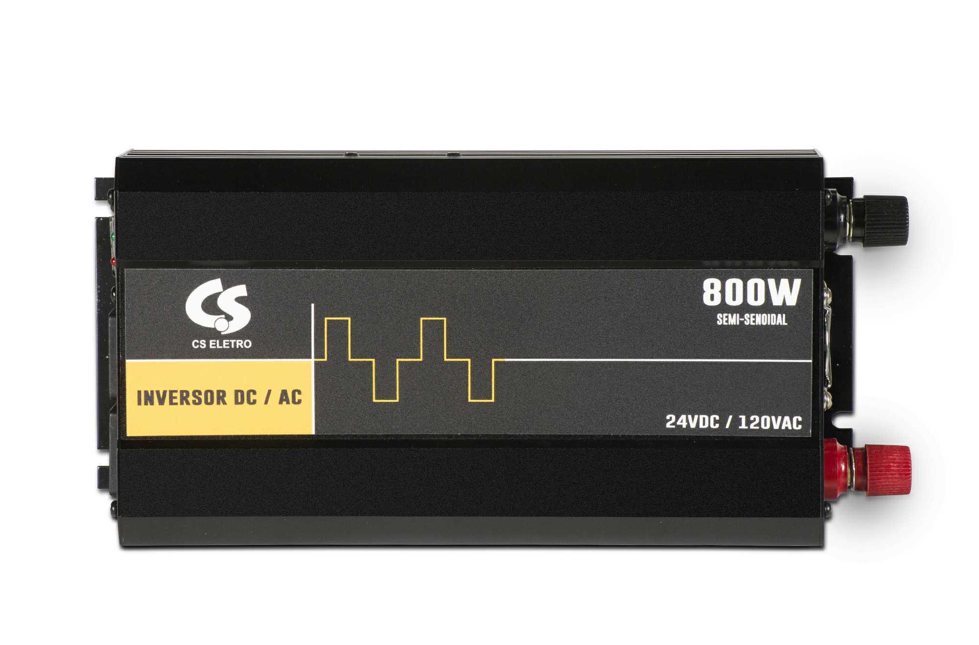 Inversor de Energia 24V para 120V 800W Senoidal Série EIM DC/AC