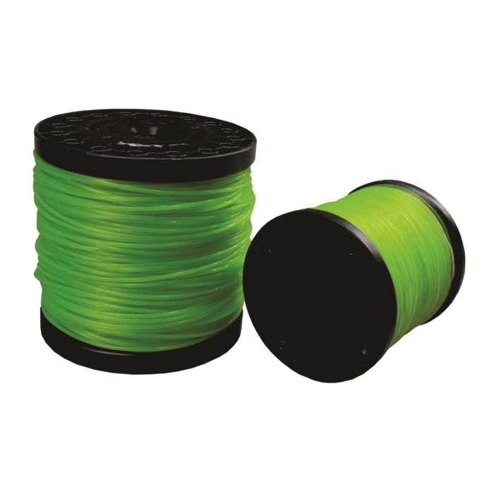 Fio de Nylon para Roçadeira Verde Redonda 2,0mm Rolo 550 metros