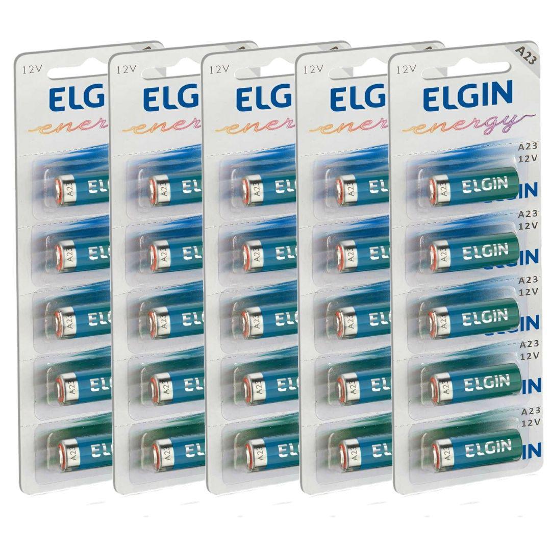 Pilha Bateria Alcalina A23 Elgin - 5 Unidades