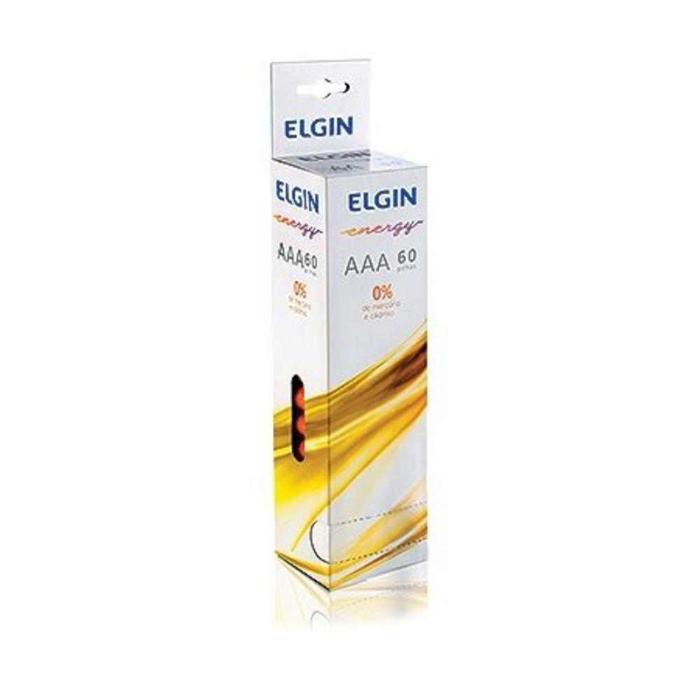 Pilha AAA Zinco Elgin com 60 unidades