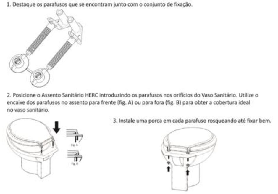 Tampa de Vaso Sanitário Branco Almofadado Prime Herc