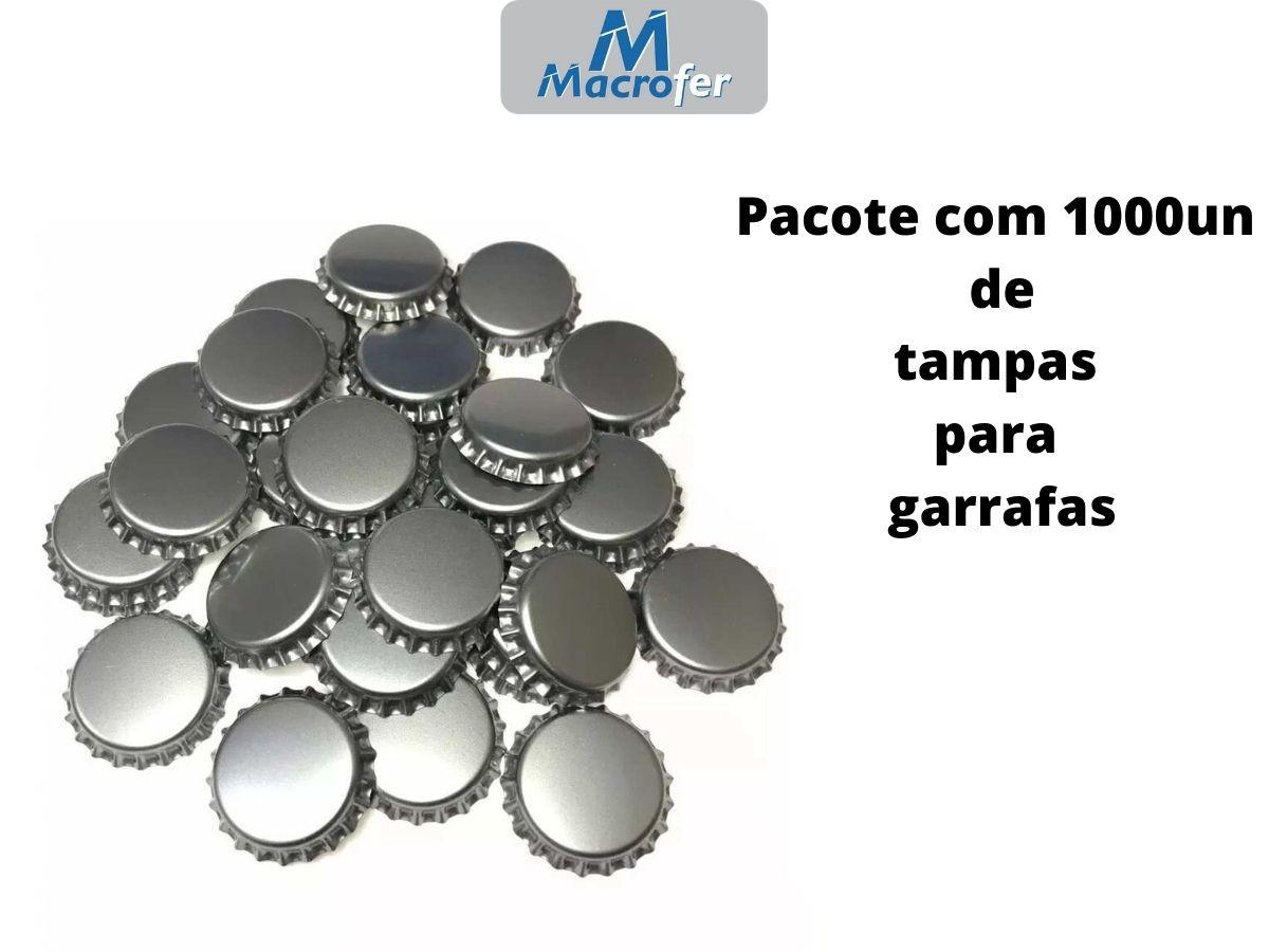Tampa Metálica para Garrafas PRY-OFF - Pacote com 1000 Unidades