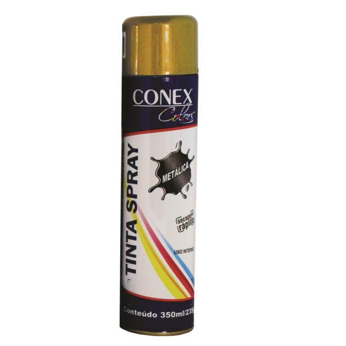 Tinta Spray Ouro Metálica 350ml Conex Colors - 6 Unidades