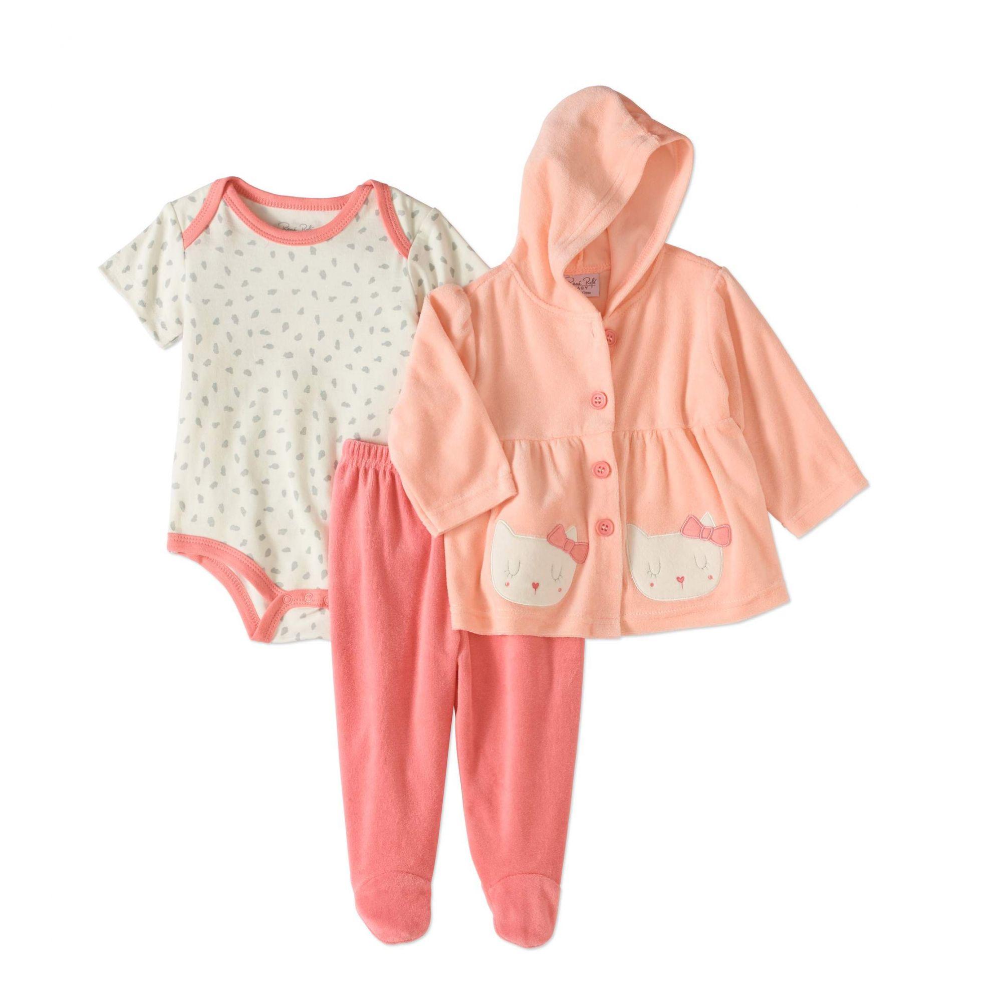 eae0c9086 Conjunto René Rofé 3 peças com casaco plush - Mamy e Kids