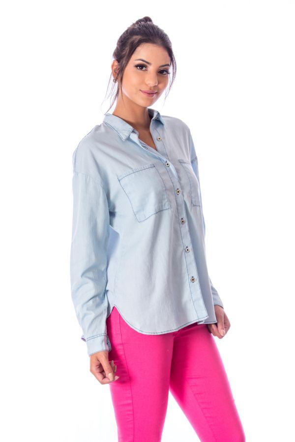 Camisa Bolsão Manga Longa