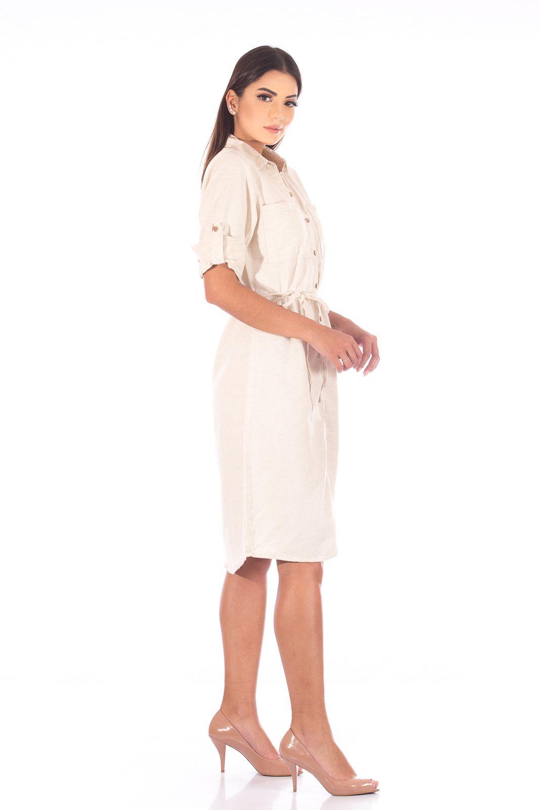 Vestido Chemise de Linho