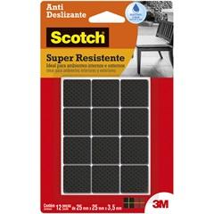 Anti Deslizante Quadrado Preto M com 12 unidades - Scotch 3M