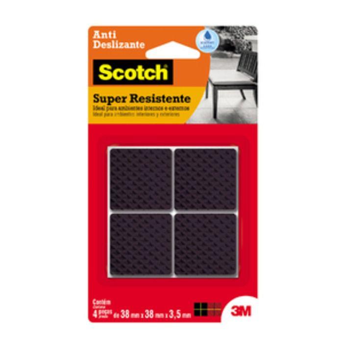 Anti Deslizante Quadrado Preto GG com 4 Unidades - Scotch 3M