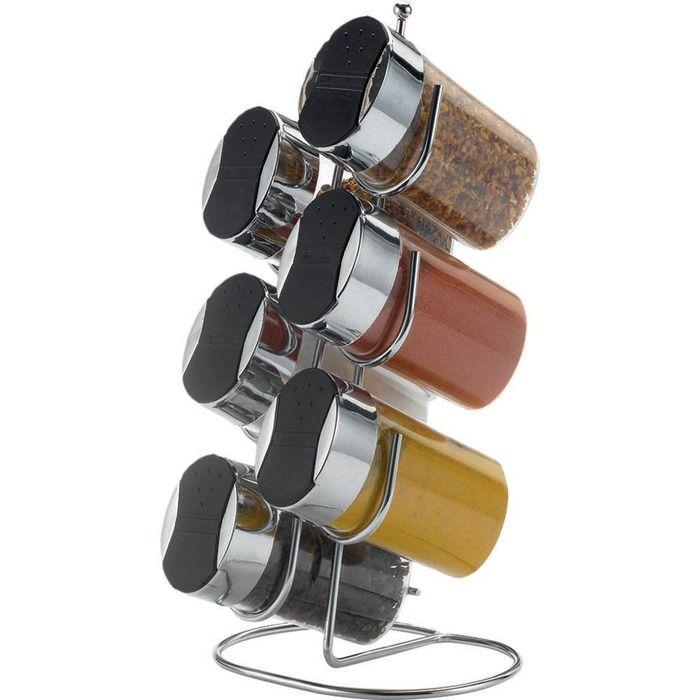 Porta Condimentos Bancada Conjunto com 6 Unidades  - Arthi