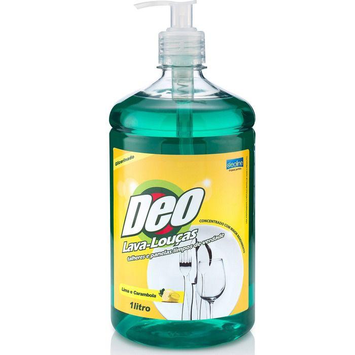 Detergente Lava-Louças Lima e Carambola 1L - Deoline