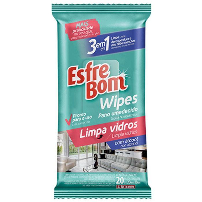 Lenço Limpa Vidros com 20 lenços Bettanin Esfrebom
