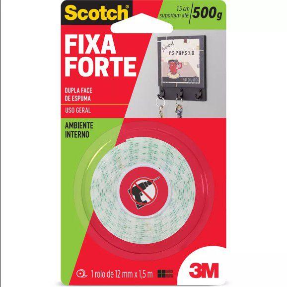Fita Dupla Face Espuma Fixa Forte P/ 500g - Scotch 3M