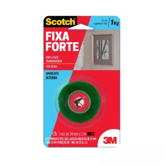 Fita Dupla Face Fixa Forte P/1kg - Scotch 3M