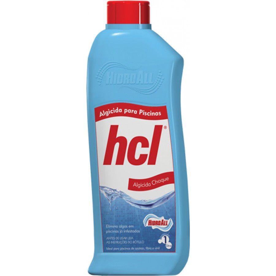 Algicida Choque Piscina 1L - HCL Hidroall