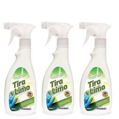 KIT COM 3 TIRA LIMO - 500ML